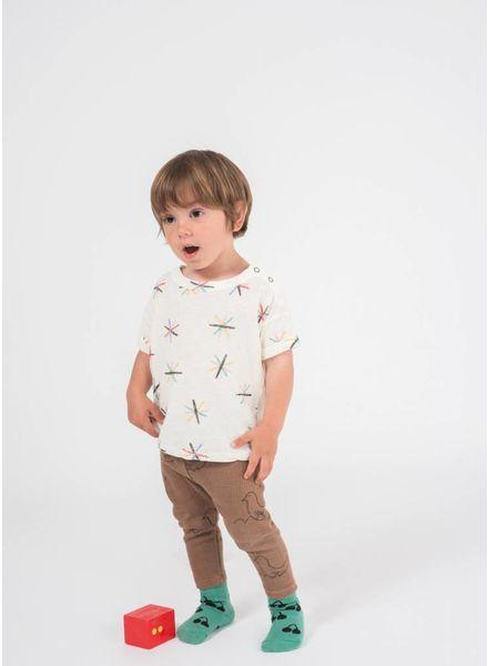 Bobo Choses shirtje baby dandelion linen t-shirt