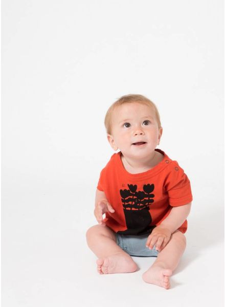 Bobo Choses shirtje baby flower bus short sleeve