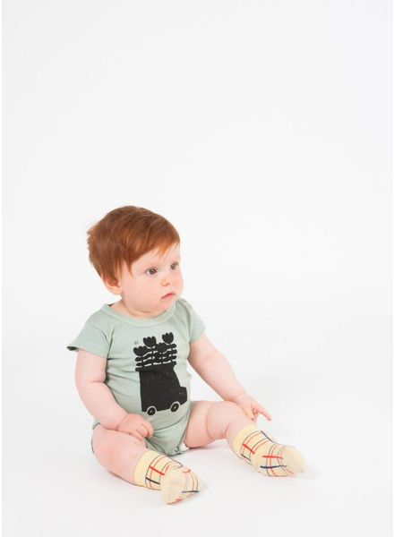 Bobo Choses onepiece baby flowers bus short sleeve body