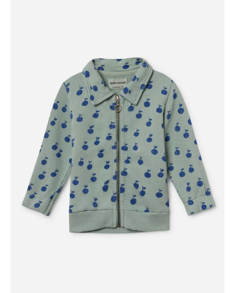 Bobo Choses apples zipped sweatshirt