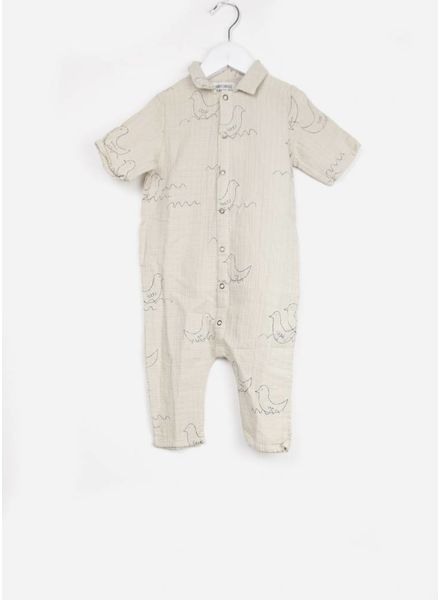 Bobo Choses onepiece baby geese buttons playsuit