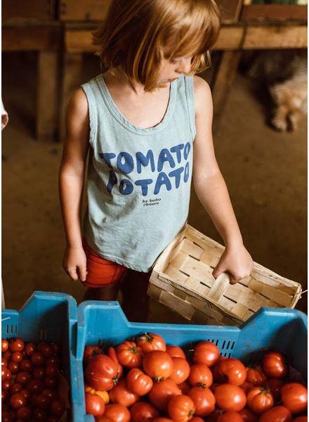 Bobo Choses shirt tomato potato linen tank top