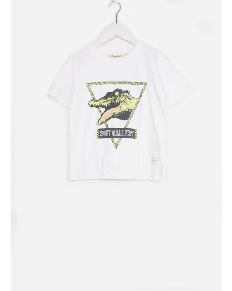 Soft Gallery asger t-shirt white see ya