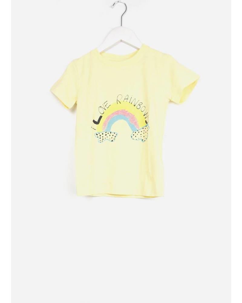 Soft Gallery bass t-shirt french vanilla rainbow
