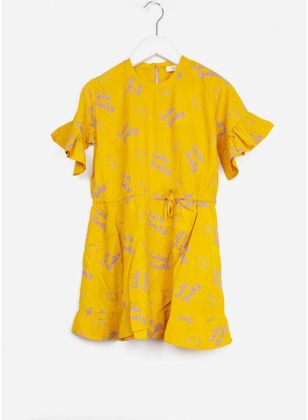 Soft Gallery jurk dory dress sunflower lemon