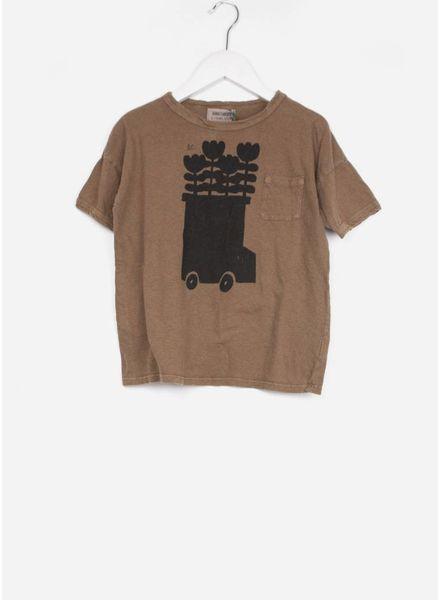 Bobo Choses shirt flower bus linen
