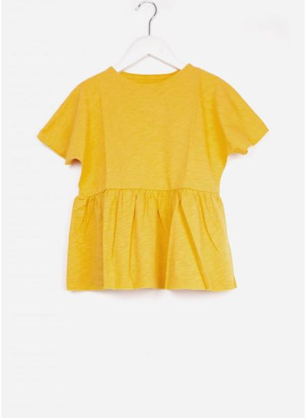 Repose shirt ruffle tee rare yellow golden