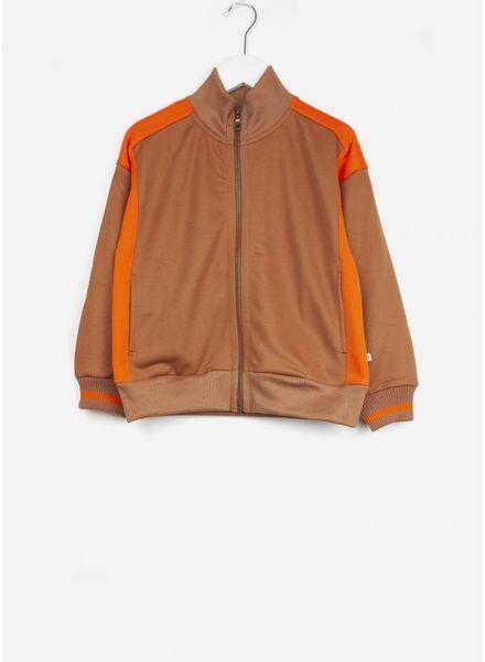 Repose vest track jacket caramel