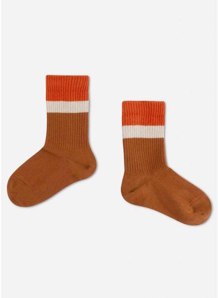 Repose sporty socks aged caramel stripe