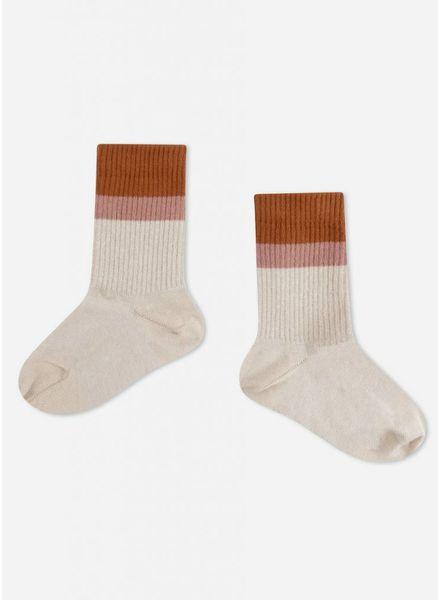 Repose sporty socks sand stripe