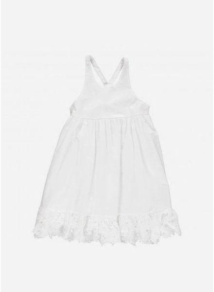 MarMar Copenhagen danita frill girl dress white