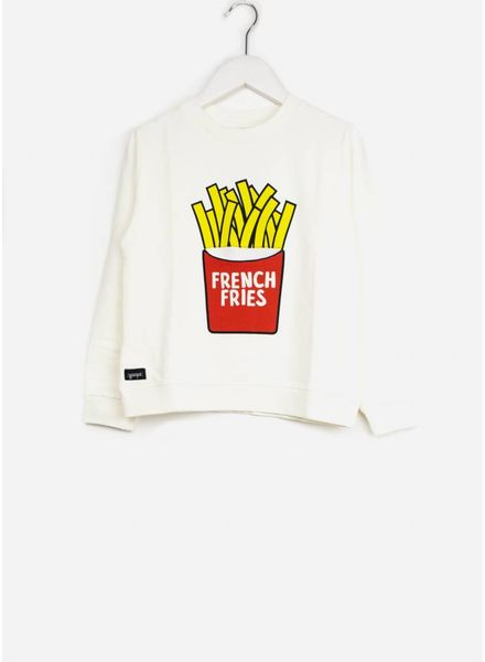 Yporque trui french fries sweater white