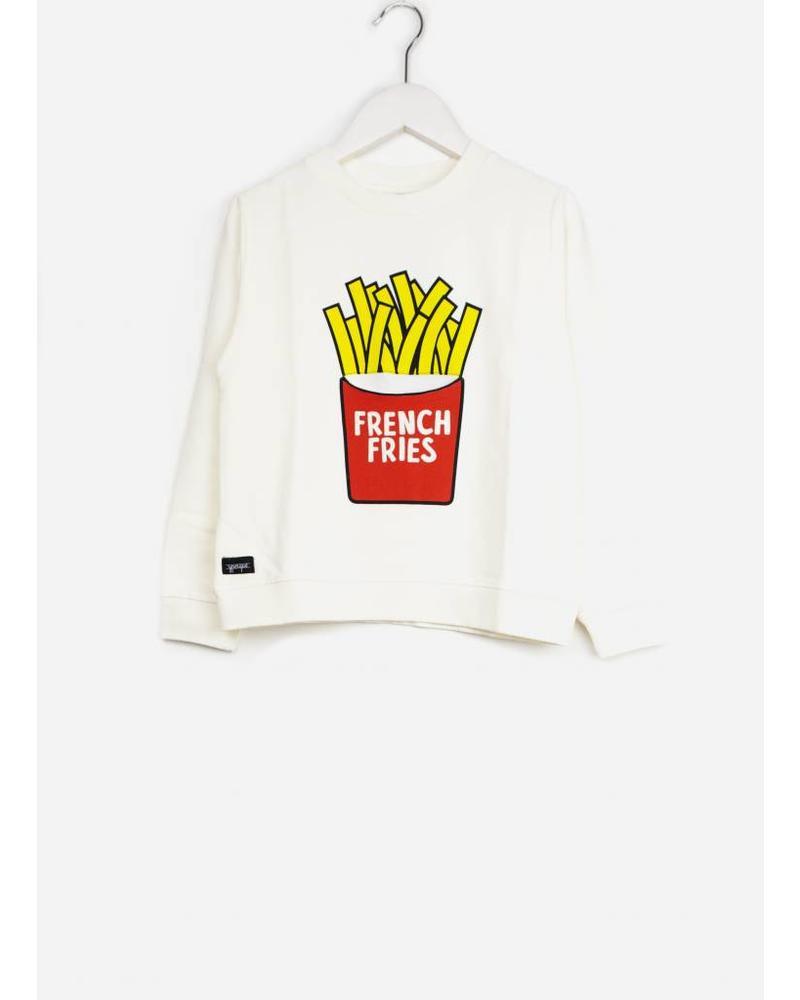 Yporque french fries sweater white