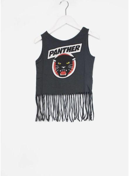 Yporque shirt panther fringed top asphalt