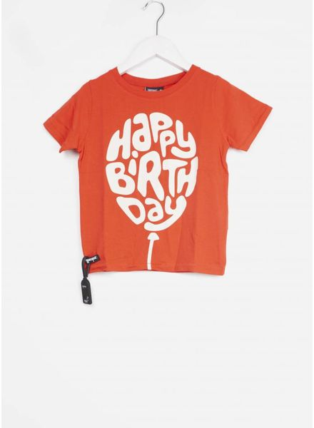 Yporque shirt happy birthday tee red
