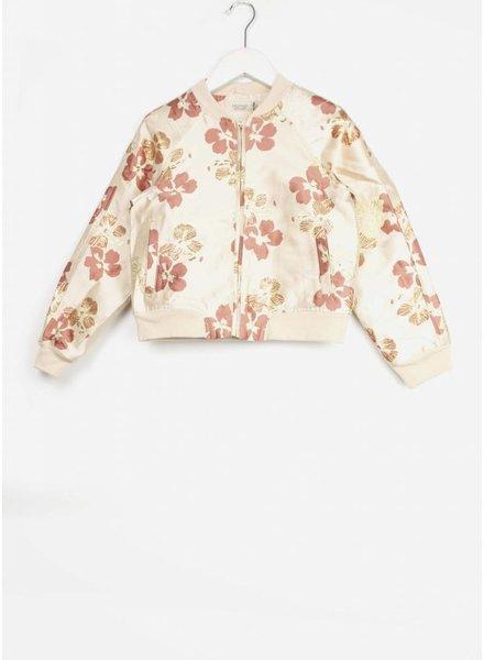 MarMar Copenhagen josephine party jacquard jacket rose hibiscus