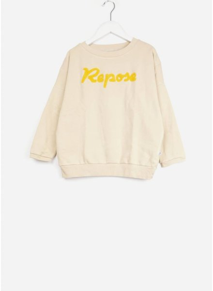 Repose trui oversized sweater beige sand