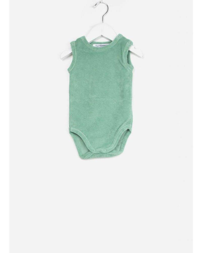 Mingo bodysuit sea green terry