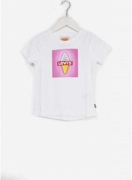 Levi's tee shirt white met ijsje