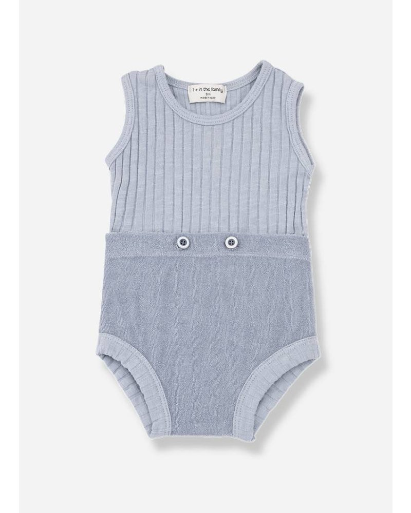 1+ In The Family ayala rompers light blue