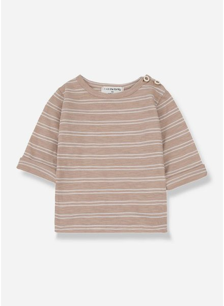 1+ In The Family harold long sleeve shirt argila/white