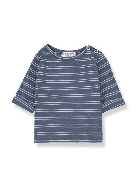 1+ In The Family harold long sleeve shirt indigo/white