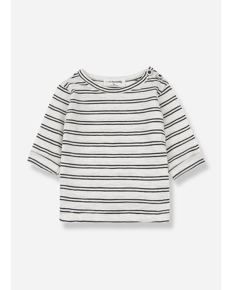 1+ In The Family harold long sleeve shirt off-white/black