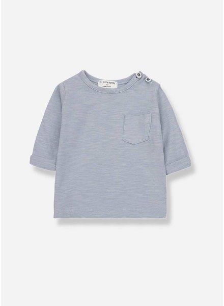 1+ In The Family john long sleeve t-shirt light blue