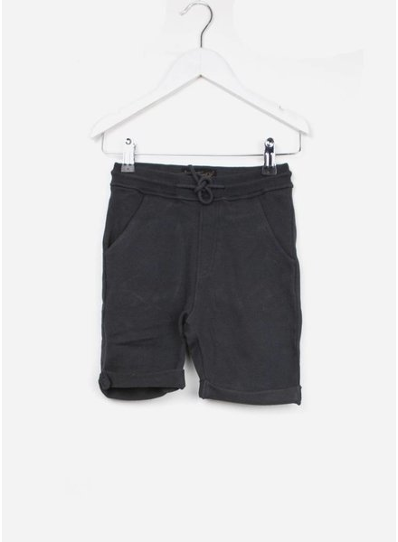 Finger in the nose short grounded ash black comfort pants