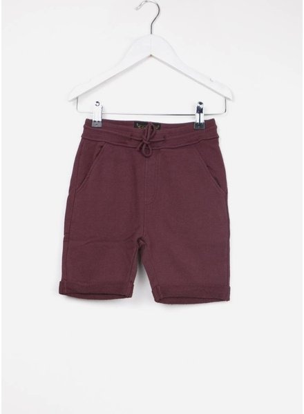Finger in the nose short grounded burgundy comfort pants