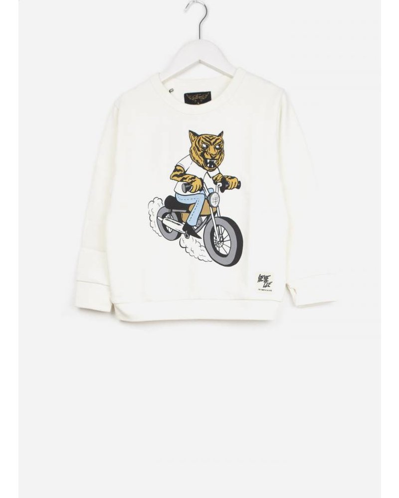 Finger in the nose brian off white moto tiger sweater
