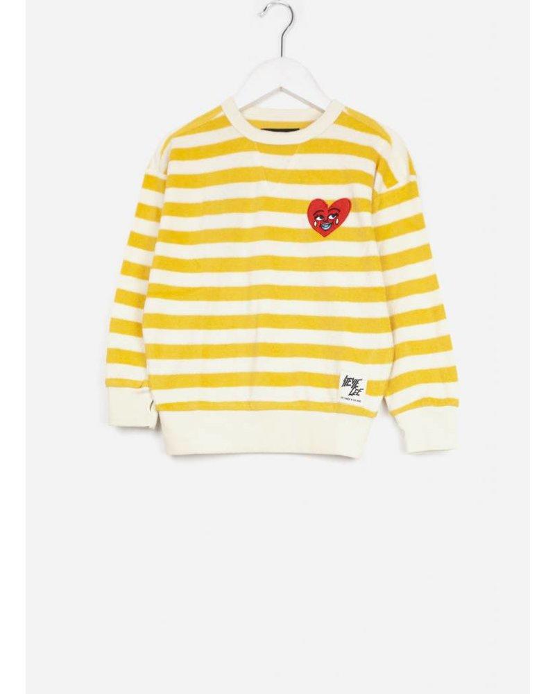 Finger in the nose mandarin stripes sweater