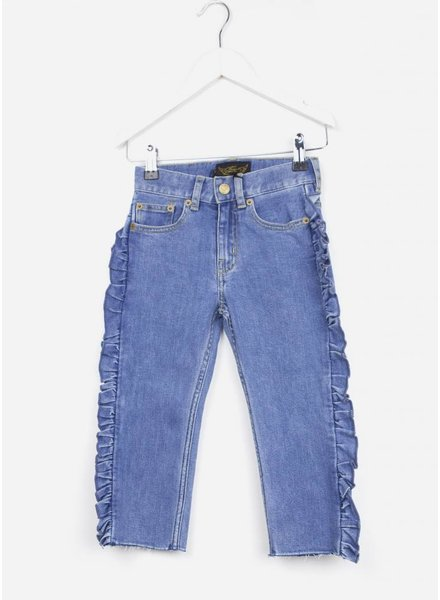 Finger in the nose broek vandetta blue denim flounces