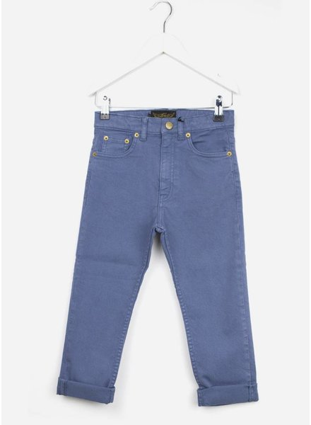 Finger in the nose broek stone blue 5 pockets tapered
