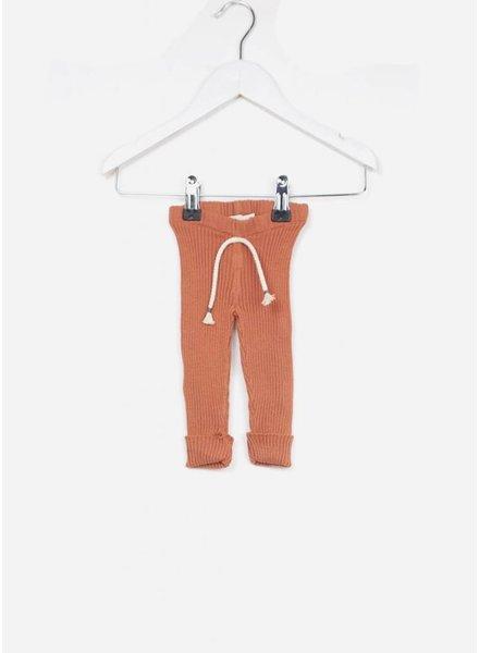 Buho broekje jess baby knitted legging terracota