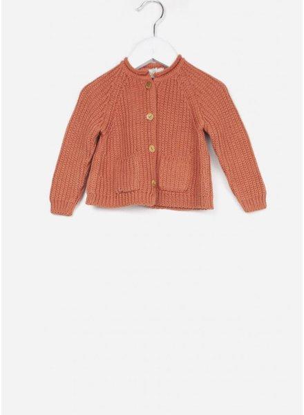 Buho vestje peter knitted cardigan terracota