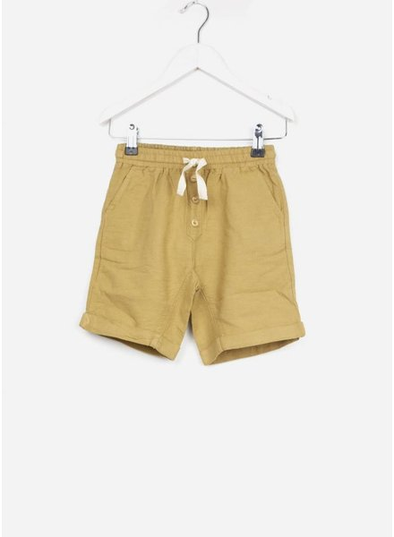 Buho short simon cotton bermuda moutarde