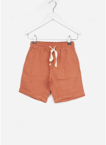 Buho short simon cotton bermuda terracota