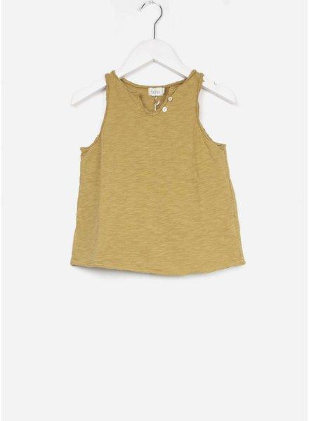 Buho shirt belle cotton girl tshirt moutarde