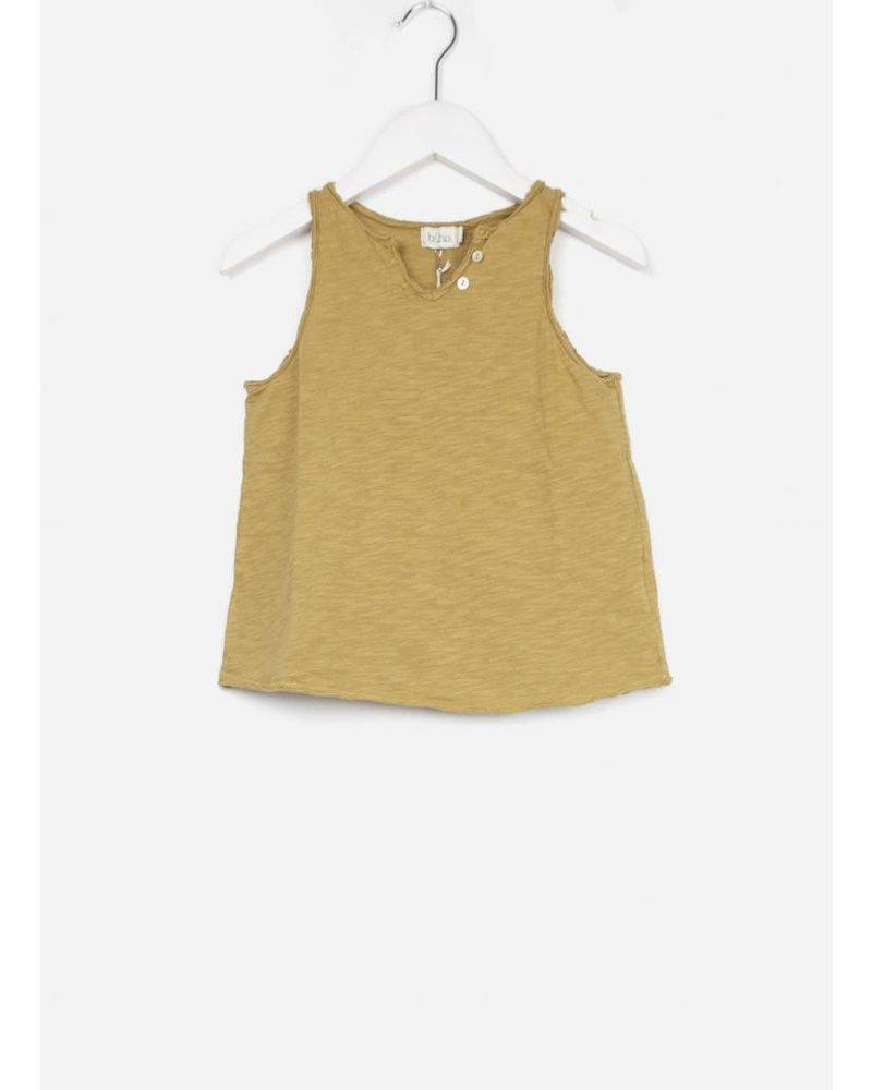 Buho belle cotton girl tshirt moutarde