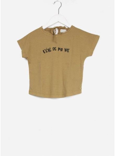 Buho shirt rita organic cotton girl tshirt moutarde
