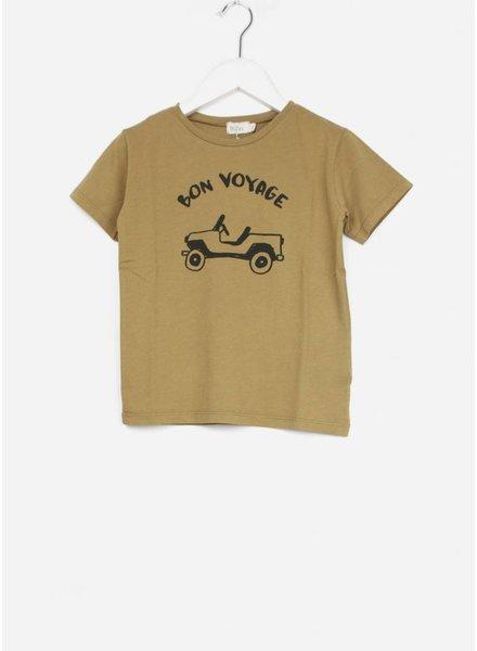 Buho shirt leo organic cotton boy moutarde