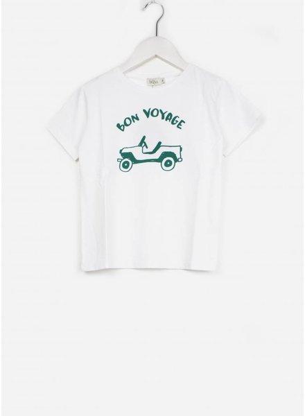 Buho shirt leo organic cotton boy white
