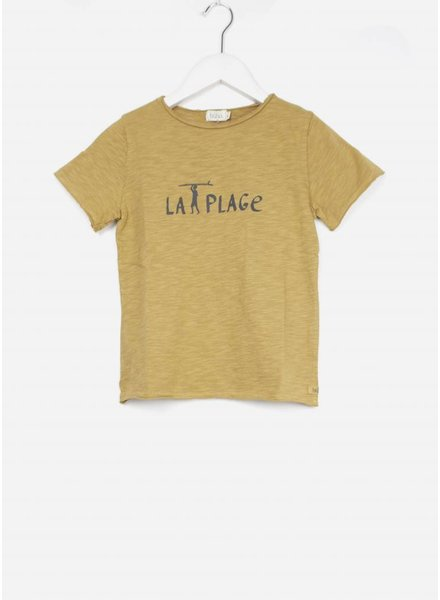 Buho shirt cesar la plage boy tshirt moutarde