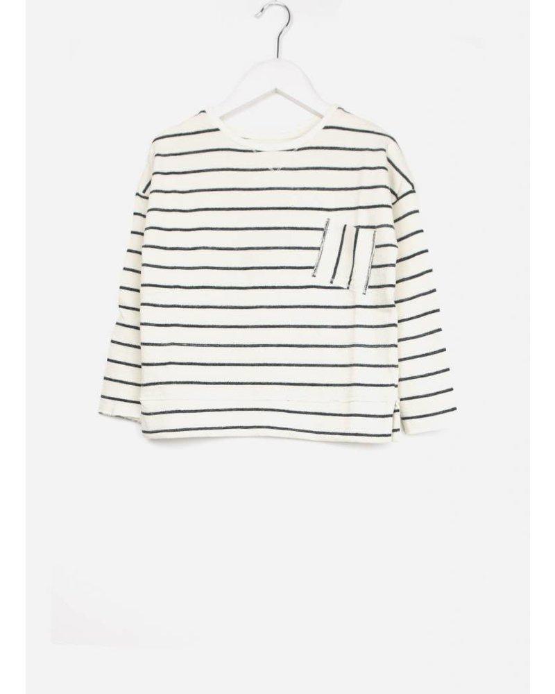 Buho biarritz navy stripes boy sweater