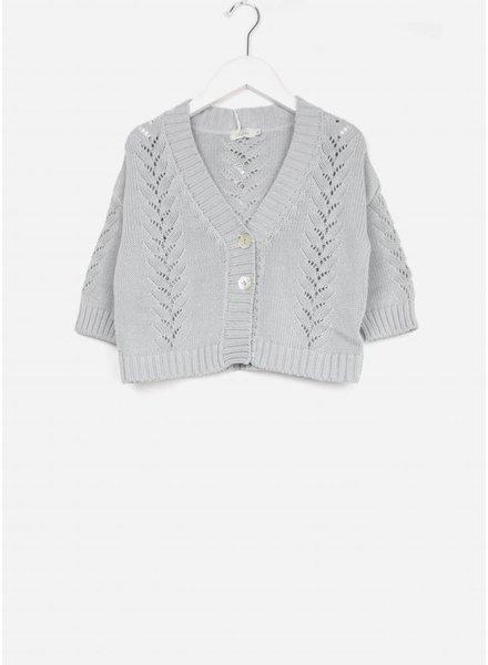 Buho vest rachel cotton cardigan cloud
