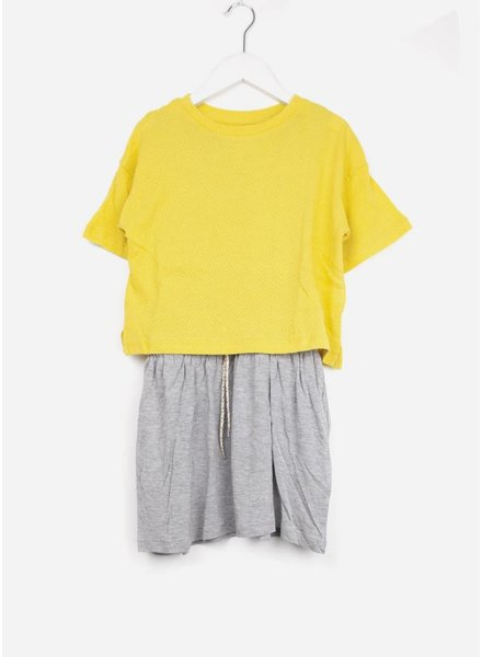 Bellerose jurk yellow  h.grey