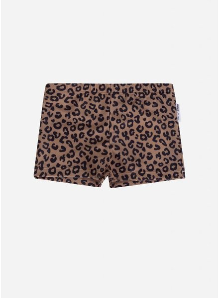 Maed for mini brown leopard swim shorts boys
