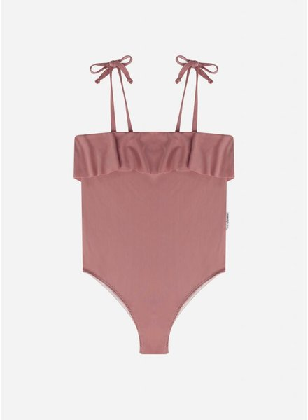 Maed for mini funky flamingo swim suit
