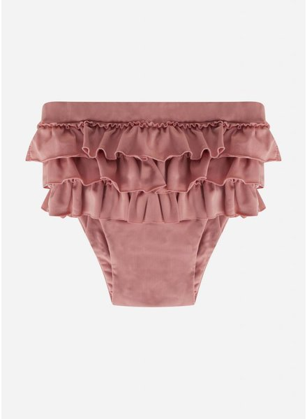 Maed for mini funky flamingo ruffle swim short